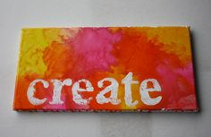 Create  Melted Crayon Art by ColourInspiration on Etsy, $30.00