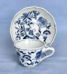 "Blue+Danube+China | Blue Danube"" China Cup and Saucer 