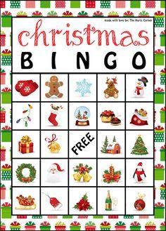 Free Printable Christmas BINGO Cards from The Kurtz Corner @Julie Forrest Forrest Forrest Ingram Robinson