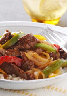 Saucy Pepper Steak – Think you can't fit juicy steak into family dinner? Try slicing it and stir-frying with colorful veggies and you'll get thumbs-ups all around. Even better, it's low-fat!