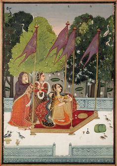 Purava Ragaputra of Megh - Ragamala - Garland of Symphonies - ca. 1740-1780 Edwin Binney 3rd Collection The San Diego Museum of Art
