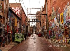 I love this gritty urban shot of Artists Alley in Rapid City, South Dakota.