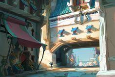 DOFUS la película: ¡fecha oficial de estreno! : FORO DOFUS : Foro de discusión del MMORPG DOFUS, juego de rol multijugador masivo en Internet Fantasy Landscape, Landscape Art, Fantasy Art, Environment Concept Art, Environment Design, Medieval, Game Background Art, Design Art Drawing, Digital Painting Tutorials