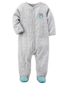 Terry Snap-Up Sleep & Play from Carters.com. Shop clothing & accessories from a trusted name in kids, toddlers, and baby clothes.