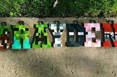 20% off SALE/ Wood Nursery Name Letters Minecraft / by 6amwithAeri