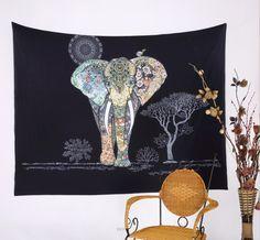Mandala Tapestry Polyester Wall Tapestry Indian Elephant Tapestry Home Decoration Carpet Wholesale toalla mandalas playa Bohemian Wall Tapestry, Indian Tapestry, Mandala Tapestry, Tapestry Wall Hanging, Bohemian Dorm, Colorful Tapestry, Psychedelic Tapestry, Mandala Throw, Tapestry Bedroom