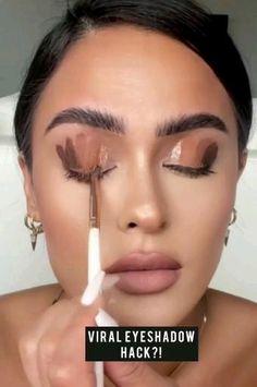 Face Makeup Tips, Makeup Is Life, Makeup Eye Looks, Beautiful Eye Makeup, Beauty Makeup Tips, Contour Makeup, Smokey Eye Makeup, Hair Makeup, Eyeshadow Looks