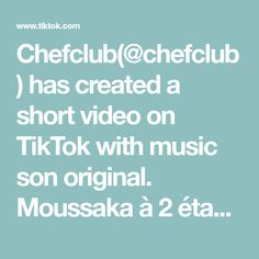 Chefclub( has created a short video on TikTok with music son original. L'œuf a la patate ! Moussaka, Calzone, Happy Late Birthday, Vegetable Snacks, Blooming Onion, Music Genius, Food Carving, Food Garnishes, Cordon Bleu