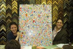 """Photo at Palmer Art Gallery in Larchmont, NY with """"Map of Manhattan"""" & Art teacher Steve Chaz, Fall 2008"""