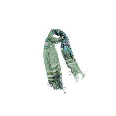 Echarpe Geométrica Verde de Viscose - #echarpe #echarpes #lenços #lenço #scarf #scarfs