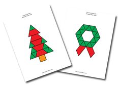 Christmas theme (secular activities here)  Like these pattern block mats; want to utilize them more often this coming year