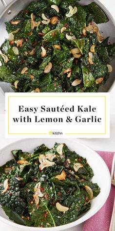 How To Cook Kale – Easy Sauteed Kale Recipe. Need recipes and ideas for simple s… How To Cook Kale – Easy Sauteed Kale Recipe. Need recipes and ideas for simple sides and side dishes that are healthy and taste… Continue Reading → Healthy Side Dishes, Veggie Dishes, Side Dish Recipes, Food Dishes, Veggie Recipes Sides, Kale Dishes, Healthy Vegetable Recipes, Healthy Sides, Veggie Food