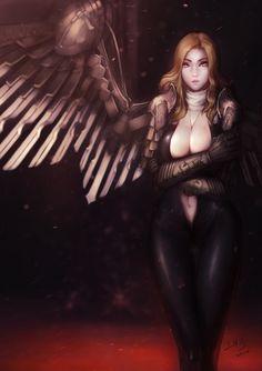 ArtStation - Goddess Neamhain, Juseon Bae