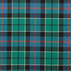 Leslie Green Ancient Lightweight Tartan by the meter  – Tartan Shop