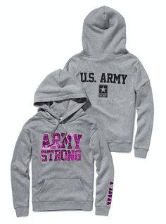 Victoria's Secret Pink® Army Bling Pullover Hoodie