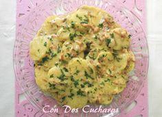 ConDosCucharas.com Patatas Dijon - ConDosCucharas.com Tapas, Coco, Guacamole, Mexican, Ethnic Recipes, Casserole, Salads, Potato Recipes, Appetizer Recipes