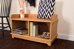 If you'd like a way to keep your mudroom or entryway organized, but you're short on space, this bench is a perfect solution. At just 3-feet wide, it offers a lot of utility in a compact package. Plus, its classic styling can fit in with a variety of decorating styles.