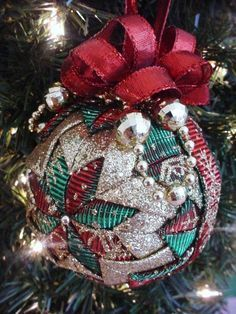 Quilted Christmas Ornament Tutorial Pattern Por Christmasornament