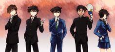 Detective Conan Hakuba Saguru Kuroba Kaito Kudo Shinichi Hattori Heiji and Masumi Sera