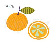 orange applique template - retro citrus fruit applique design. £1.50, via Etsy. © Kip & Fig 2012