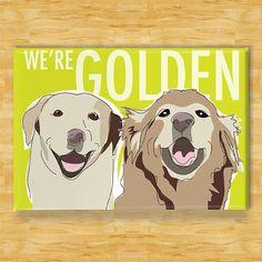 golden retriever magnet!
