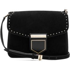 Givenchy Nobile small suede cross-body bag (3,325 PEN) ❤ liked on Polyvore featuring bags, handbags, shoulder bags, studded crossbody purse, suede handbags, givenchy purse, studded crossbody and cross-body handbag