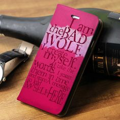 Doctor Who I am The Bad Wold Quotes Wallet iPhone 4/4s/5/5s/5c/6/6plus/7 and Samsung galaxy s3/s4/s5/s6/s7 Case - gogolfnw.com