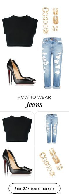 """""""Untitled #189"""" by tiana25 on Polyvore featuring Christian Louboutin, Forever 21, adidas Originals and Genetic Denim"""