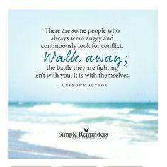Walk away....sometimes