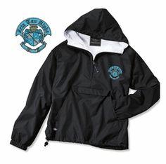 Zeta Tau Alpha Anorak SALE $39.95. Greek Clothing and Merchandise - Greek Gear® charles river rain jacket