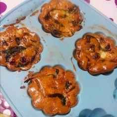 Saudável como um pêro... sem desespero!: Muffins de ovo com bacon, cogumelos e espinafres