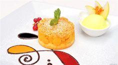 Apple crumble with calvados apple sorbet a dessert by Swiss Diamond Hotel's Egidio Iadonisi