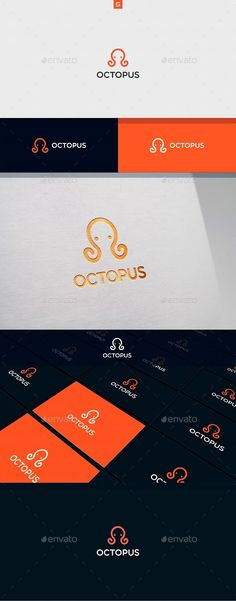 Octopus Logo Template PSD, Vector EPS, AI Illustrator
