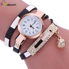 Relogio Feminino Woman Watches 2016 Brand Luxury Watch PU Leather Bracelet Quartz Dress Clock montre femme marque de luxe