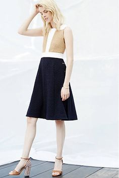 Cabled Colorblock Dress