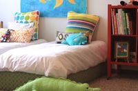 Toddler Bed.. Saw another version where they added a headboard and it was the cutest thing ever!
