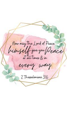 Peace Bible Verse Wallpaper - 2 Thessalonians 3:16