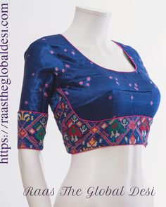 Raas The Global Desi-[blouse]-[choli]-[designer_blouse]-[readymade_saree_blouse]-[readymade_saree_blouses]-[readymade_saree_blouse_online_USA]-[blouse_design]-Raas The Global Desi Saree Blouse Neck Designs, Simple Blouse Designs, Stylish Blouse Design, Bridal Blouse Designs, Choli Designs, Dress Designs, Churidar, Anarkali, Lehenga Gown