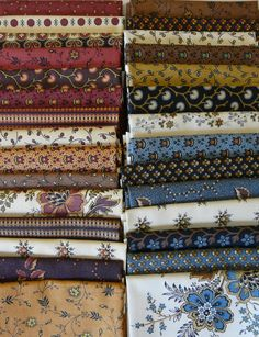 """Savannah Fat Quarter Bundle of 29 - """"The Quilted Crow Quilt Shop, folk art quilt fabric, quilt patterns, quilt kits, quilt blocks"""