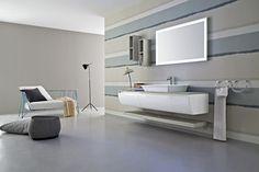 Meuble sous-vasque laquée simple mural JOY 44/45 by Cerasa design Stefano Spessotto, Lorella Agnoletto