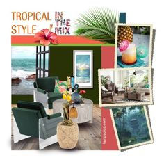 """Tropical style"" by fiery555 ❤ liked on Polyvore featuring interior, interiors, interior design, home, home decor, interior decorating, Trilogy, Surya and Kathy Ireland"
