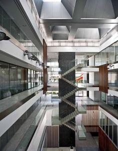 stairs Fuencarral-El Pardo Police Station / Voluar Arquitectura