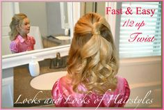 Locks and Locks of Hairstyles: Quick and Easy Video Tutorials: 3 Minute Hairstyles: half updo twist