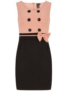 Peach/Black Shift Dress