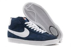 db25c510c4ca72 Nike Blazer High Vintage Suede Chaussure pour Homme Navy Blanc