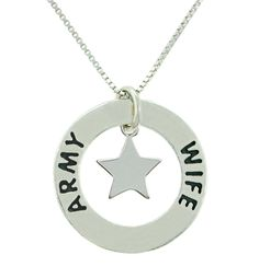 Love this Army Wife necklace