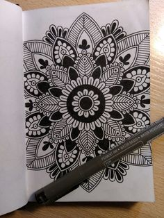 gorgeous mandala in a moleskin