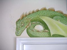 green dragon mural