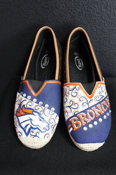 Custom Hand Painted Denver Broncos Canvas by TouchOfJoyDesigns, $60.00