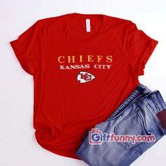 Vintage Kansas City Chiefs T-Shirt- Funny Shirt Cool T Shirts, Funny Shirts, Vintage Disneyland, Disneyland Resort, Kansas City Chiefs, Vinyl Designs, Unisex, Tees, Cotton